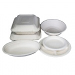 biodegradable bagasse food delivery containers