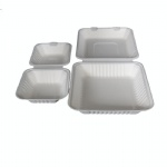 disposable biodegradable sugarcane pulp takeaway food container