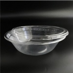 disposable clear pla salad bowl with lid